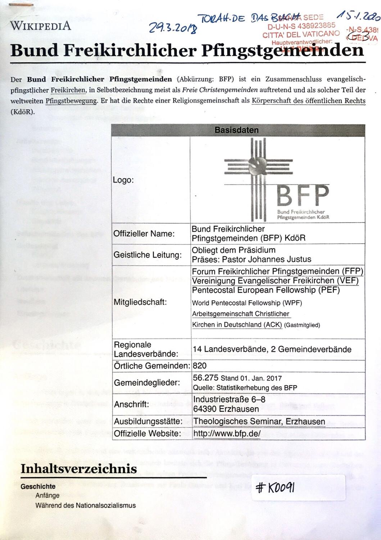 #K0091 l Bund Freikirchlicher Pfingstgemeinden