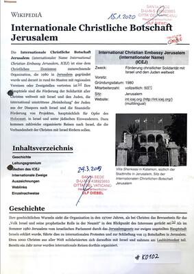 #K0100 l International Christian Embassy Jerusalem