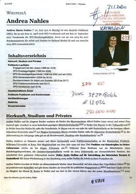 #K0108 l Andrea Nahles - SPD + Zentralrat der Katholiken