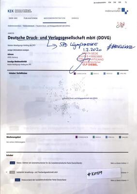 #K0109 l KEK - Deutsche Druck- und Verlagsgesellschaft mbH (DDVG) l SPD Lügenpresse