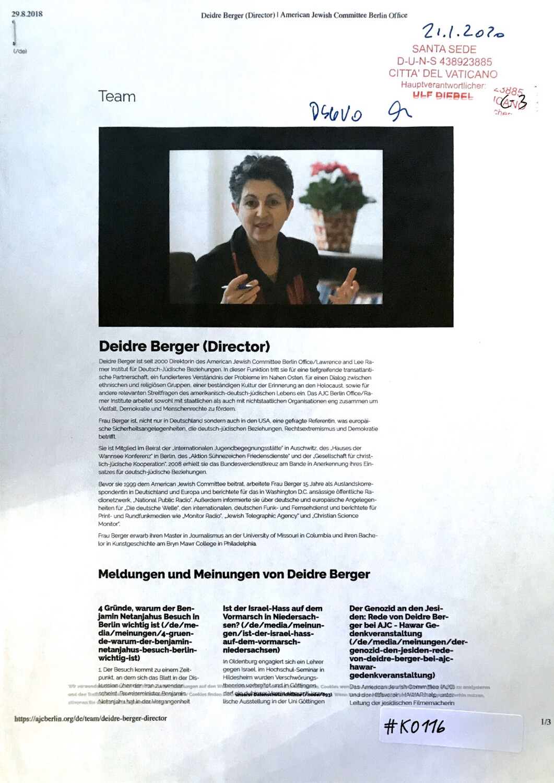 #K0116 l Deidre Berger (Director) l American Jewish Comittee Berlin Office