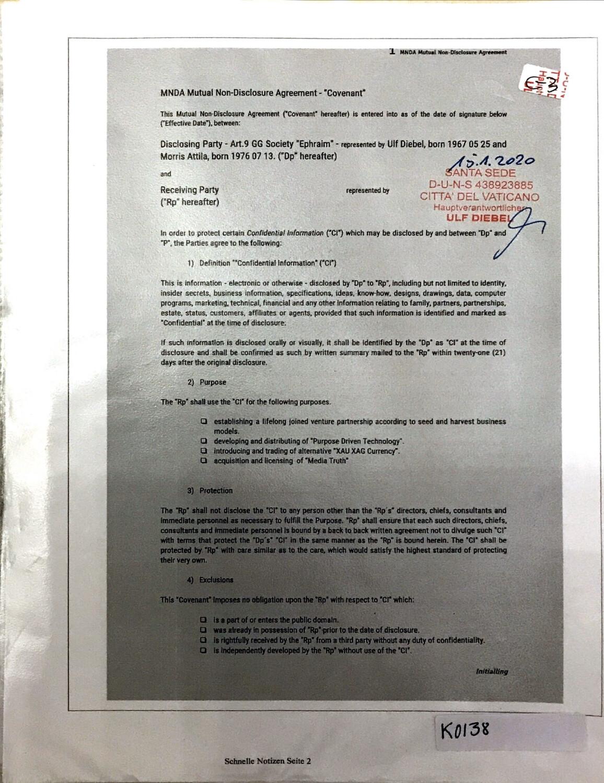 "#K0138 l MNDA Mutual-Non-Disclosure Agreement - ""Covenant"""