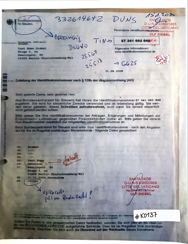 #K0137 l Persönliche Identifikationsnummer -  Yael Eden Diebel l DSGVO