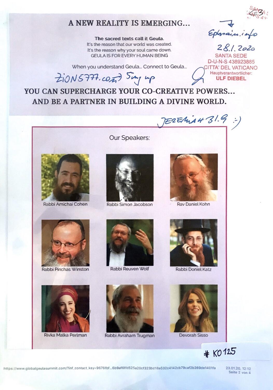 #K0125 l Geula Summit 2020 - Our Speakers