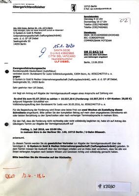 #K0050 l Zwangsvollstreckungssache l Obergerichtsvollzieher Berlin