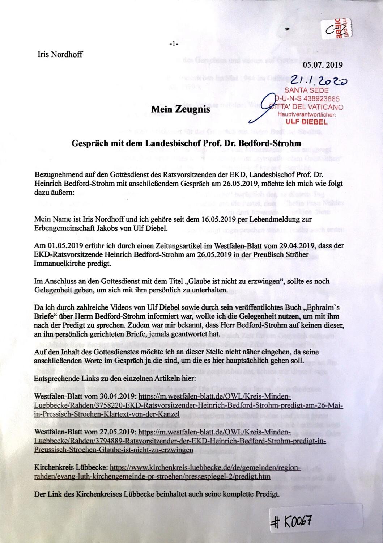 #K0067 l Iris Nordhoff - Mein Zeugnis - Gespräch mit dem Landesbischof Prof. Dr. Bedford-Strohm