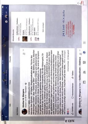 #K0076 l Antisemitismus Post von Günther M. Biergans l Facebook