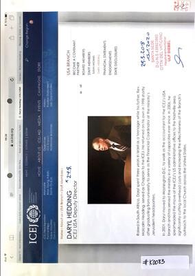 #K0083 l ICEJ - Daryl Hedding, ICEJ USA Deputy Director