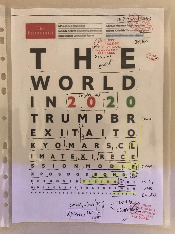 #U002 l The Economist Cover 2020