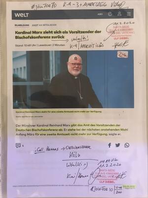#U001 l Welt - Kardinal Marx zieht sich als Vorsitzender der Bischofskonferenz zurück