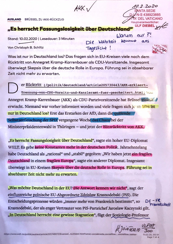 """#U004 l Welt - """"Es herrscht Fassungslosigkeit über Deutschland"""""""