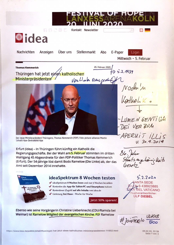 """#U005 l idea - """"Thüringen hat jetzt einen katholischen Ministerpräsidenten"""""""