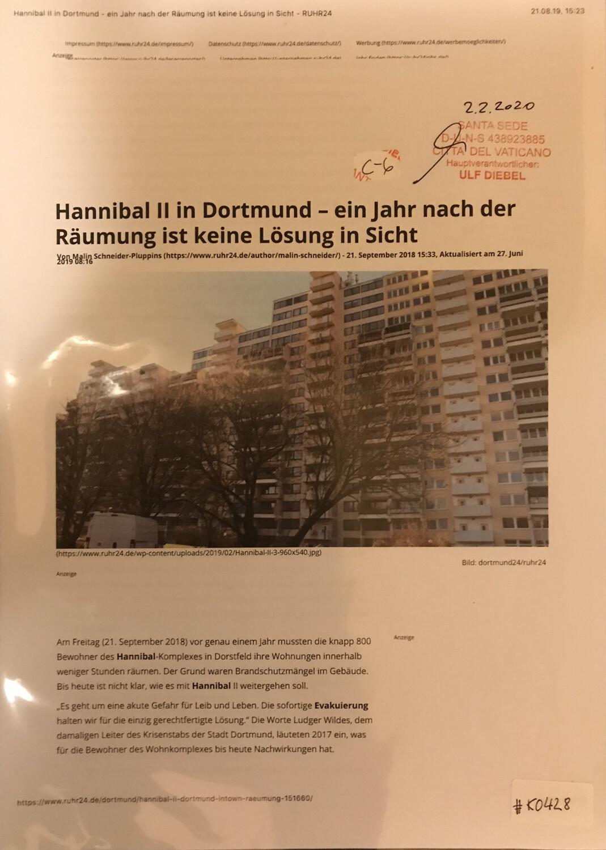 #K0428 l Hannibal ll in Dortmund - ein Jahr nach der Räumung ist keine Lösung in Sicht