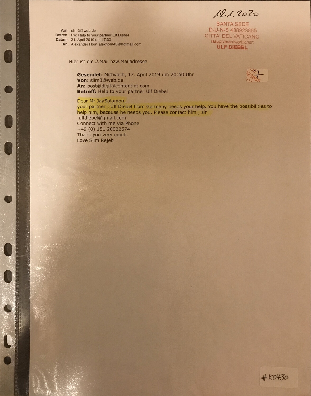 #K0430 l Mail to Michael Jay Solomon