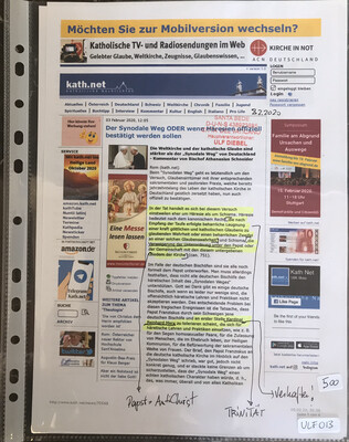 #U013 l kath.net - Der Synodale Weg ODER wenn Häresien offiziell bestätigt werden sollen