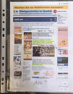 #U015 l kath.net - Zölibatsträume von CDU-Chefin Kramp-Karrenbauer