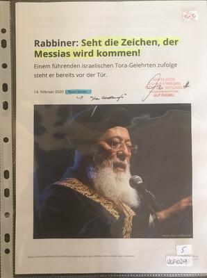 #U029 l Rabbiner: Seht die Zeichen, der Messias wird kommen!