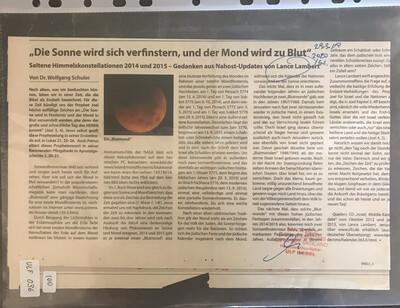 """#U036 l """"Die Sonne wird sich verfinstern, und der Mond wird zu Blut"""""""