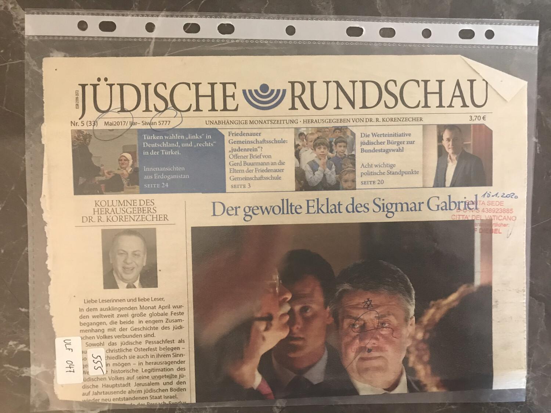 #U047 l Jüdische Rundschau  - Der gewollte Eklat des Sigmar Gabriel