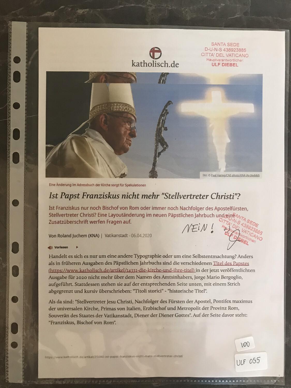 """#U055 l katholisch.de - Ist Papst Franziskus nicht mehr """"Stellvertreter Christi?"""""""