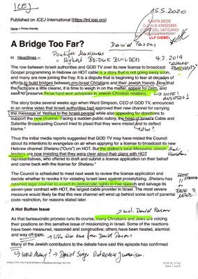 #U064 l A Bridge Too Far? - Published on ICEJ International