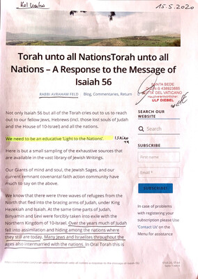#U065 l Torah unto all Nations - A Response to the Message of Isaiah 56 - Rabbi Avraham Feld