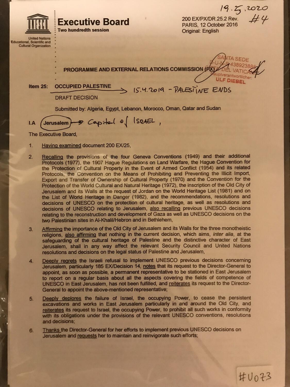 #U073 l United Nations - Executive Board