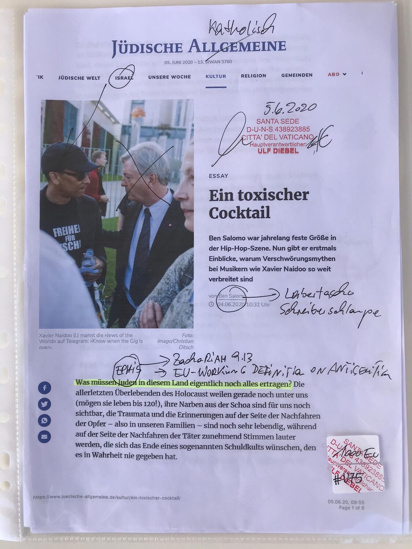 #U075 l Jüdische Allgemeine - Ein toxischer Cocktail