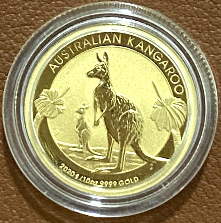 1/10 Unze Gold Nugget / Kangoroo 2020