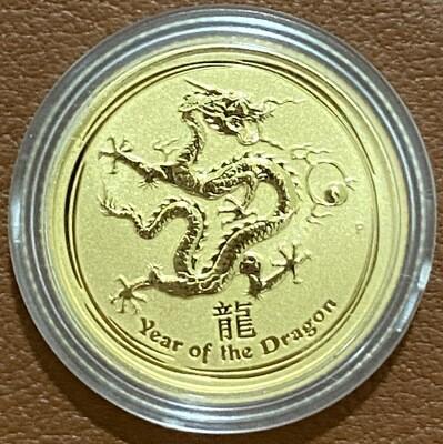 1/10 Unze Gold Australia Lunar ll 2012 Drache