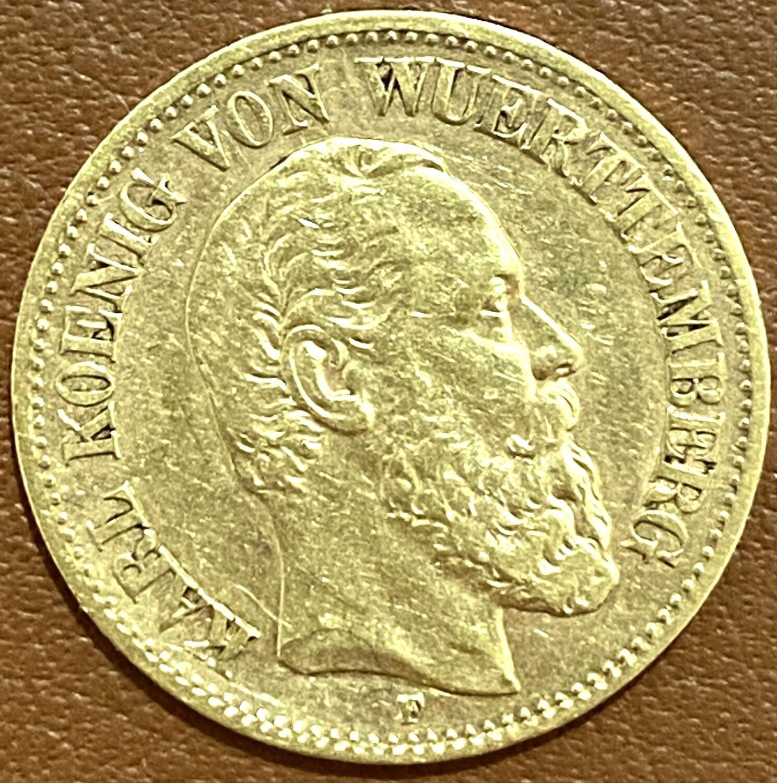 10 Mark Gold Karl von Württemberg 1881