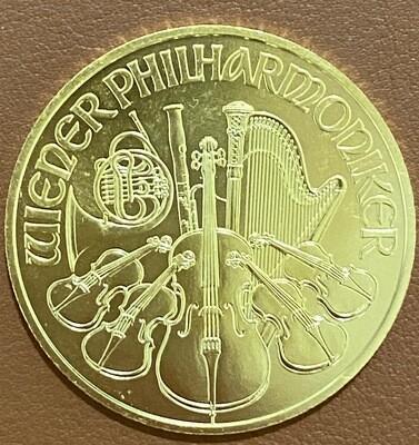 1 Unze Gold Philharmoniker 2020