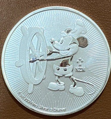 1 Unze Mickey Mouse Steamboat Willie 2017