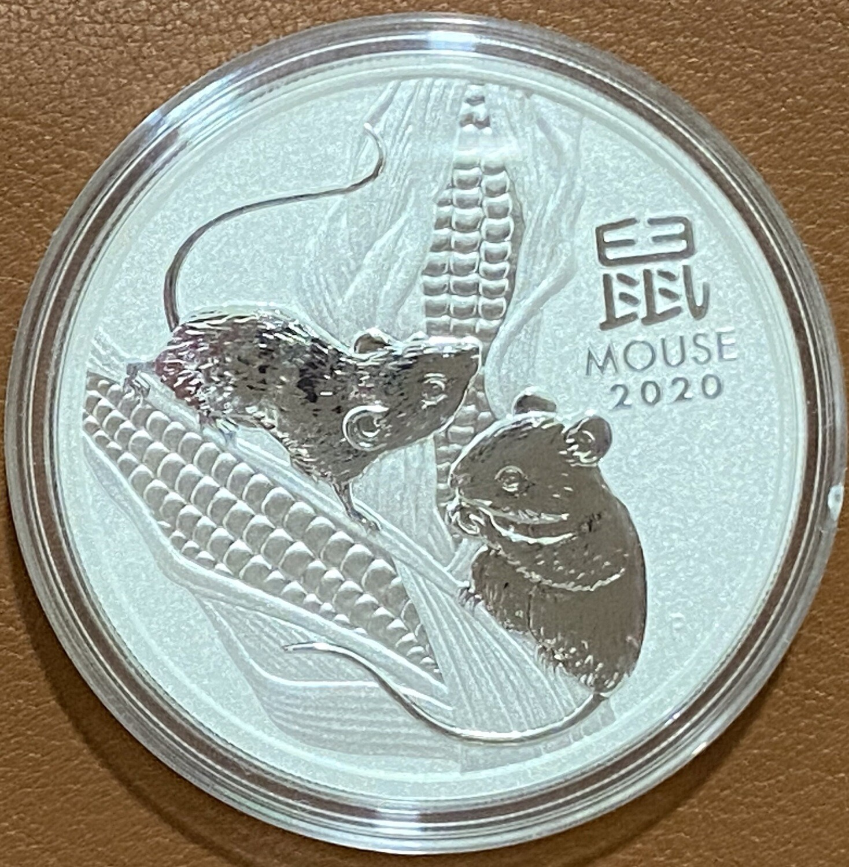 1 Unze Silber Austr. Lunar lll Maus 2020