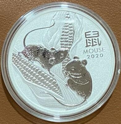 1 Unze Silber Australia Lunar lll 2020 Mouse