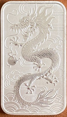 1 Unze Perth Mint Dragon Silver Bar 2018