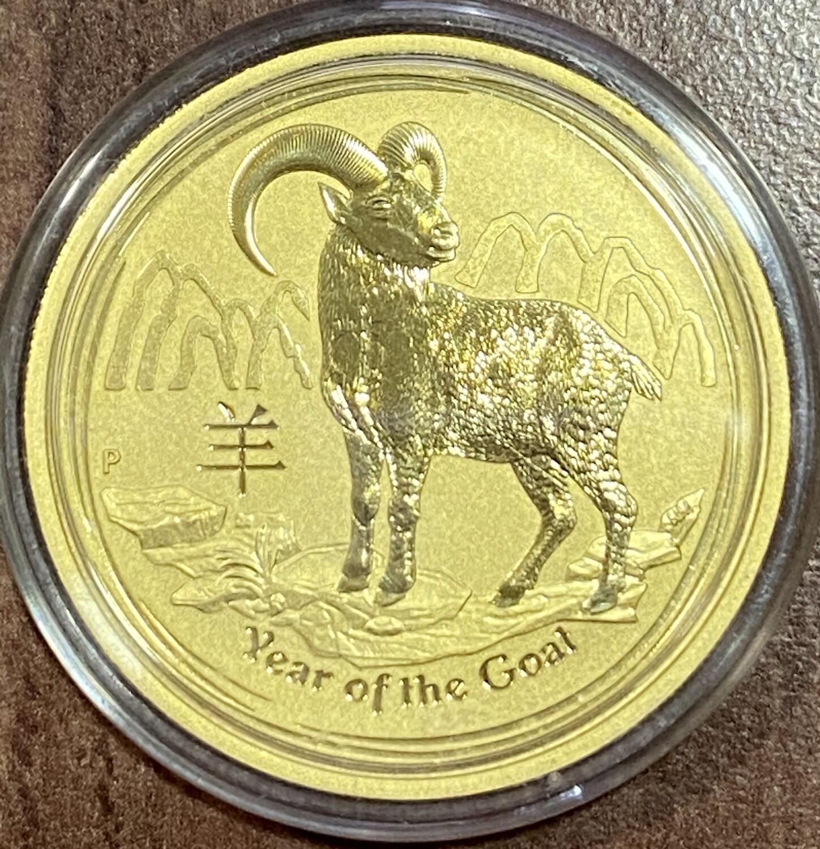 1 Unze Gold Lunar II Year of the Goat 2015