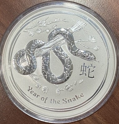 10 Unzen Silber Australien Lunar ll Year of the Snake 2013