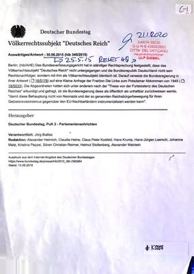 """#K0008 l Völkerrechtssubjekt """"Deutsches Reich"""" - Deutscher Bundestag 2015"""