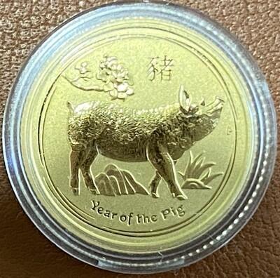 1/10 Unze Gold Australia Lunar ll 2019 Pig