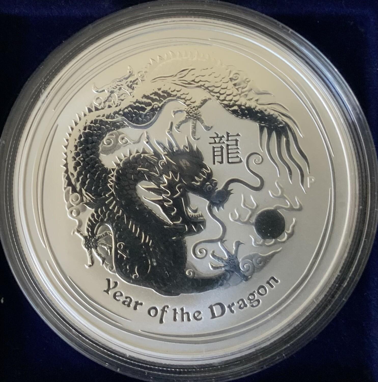 1 Unze Silber Australia Lunar ll 2012 Dragon