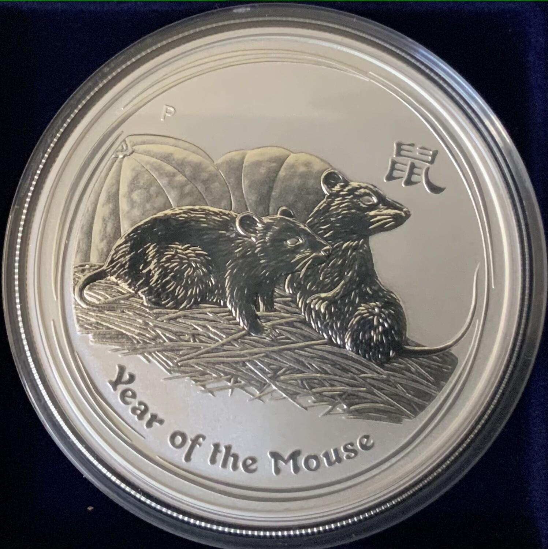 1 Unze Silber Australia Lunar ll 2008 Mouse