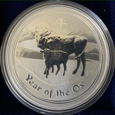 1 Unze Silber Australia Lunar ll 2009 Ox / Ochse