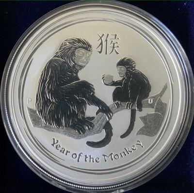 1 Unze Silber Australia Lunar II 2016 Monkey