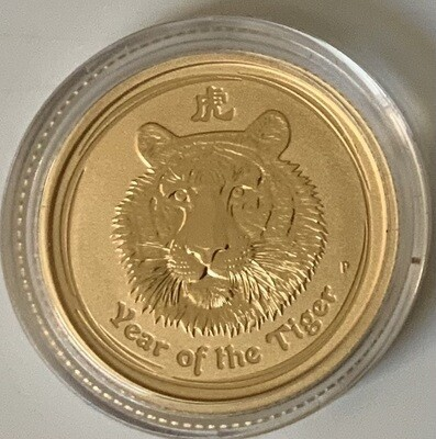 1/10 Unze Gold Australia Lunar ll 2010 Tiger