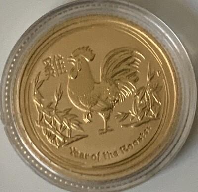 1/10 Unze Gold Australia Lunar ll 2017 Roaster