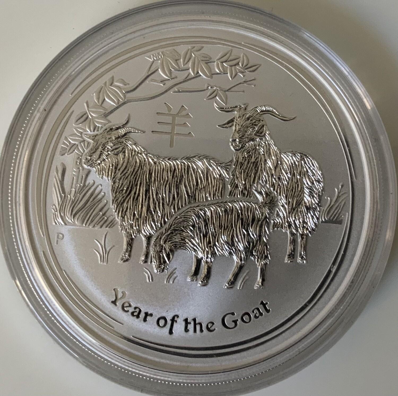 5 Oz Silver Australia Lunar II 2015 Goat