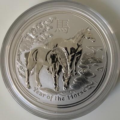 5 Oz Silver Australia Lunar II 2014 Horse
