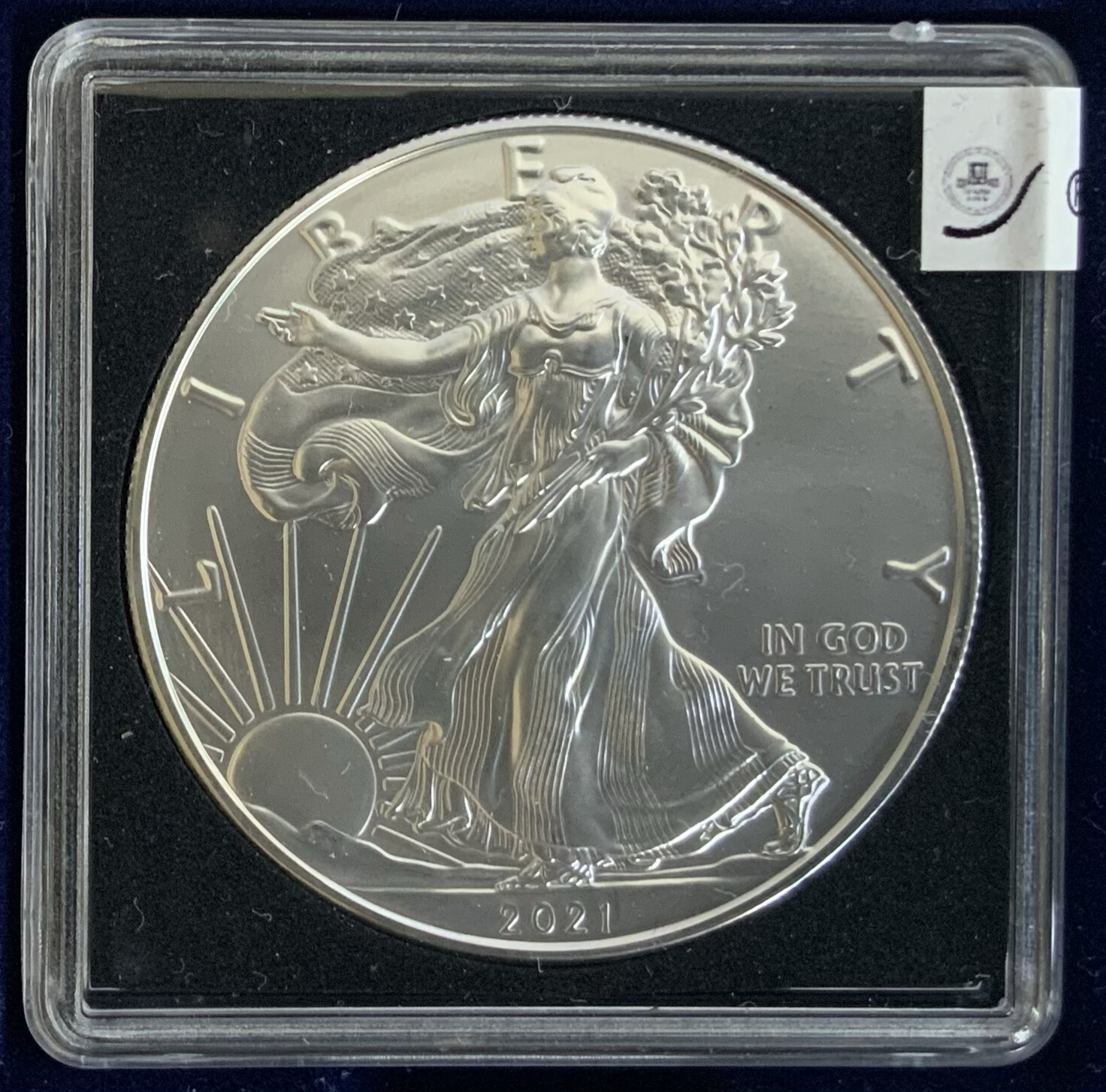 1$ US ONE Oz Silver Liberty American Eagle USA 2021