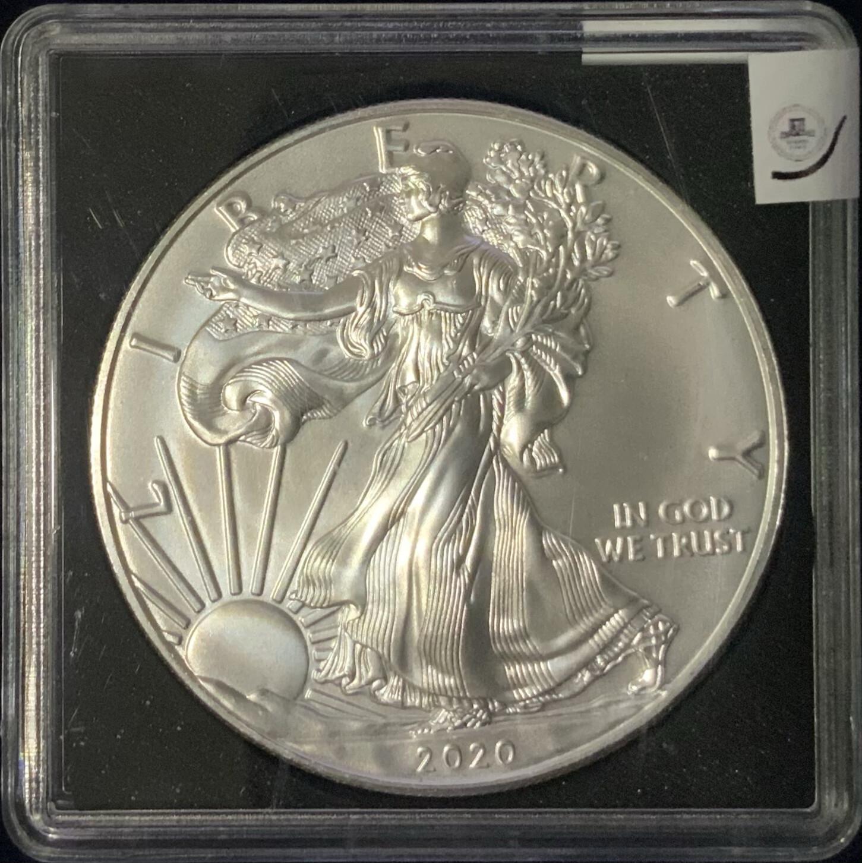 1$ US ONE Oz Silver Liberty American Eagle USA 2020